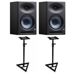 PreSonus Eris E8 XT Studio Monitors with Floor Stands