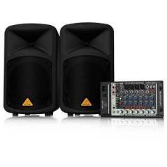 Behringer Europort EPS500MP3 Mixer + PA Speakers x2