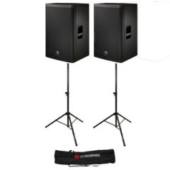 Electro-Voice ELX115 15 inch Passive Pair + Stands/Bag Bundle