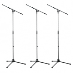 K&M 21090 Telescopic Microphone Stand (3-Pack)