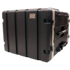 Trojan Carbon Wheeled Rack Case 6U+2U
