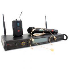 Studiospares 2.4GHz Dual Wireless System Handheld + Head Set S2.4/HH/HS