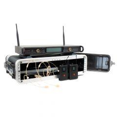 Studiospares 2.4GHz Dual Wireless Dual HS 2U Case Bundle