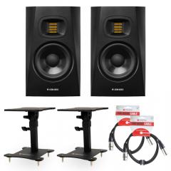Adam T5V Bundle Desktop Monitor Stands & Leads