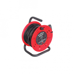 2 Gang 30m Mains Extension Reel With Stand