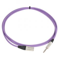 Pro Neutrik XLR Male - Balanced Jack Lead 2.5m Violet