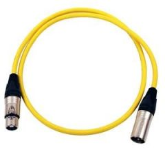 Pro Neutrik XLR Cable 1m Yellow