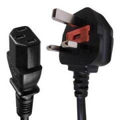 IEC C13 – UK Power Plug Mains Lead 10A 2 m