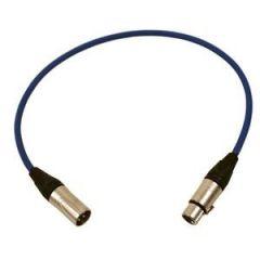 Pro Neutrik XLR Cable 60cm Blue