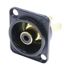 Neutrik Chassis Phono Socket Black / Black NF2D-B-0