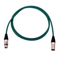 Pro Neutrik XLR Cable 2m Green