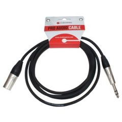 XLR Male - Stereo Jack Lead 10m