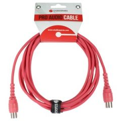 MIDI Lead 3m Red Moulded