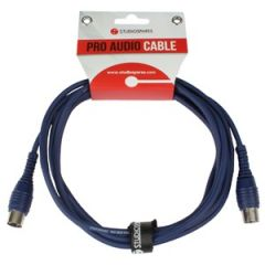 MIDI Lead 3m Blue Moulded