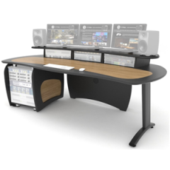 ProLite Desk With 12U Rack Oak