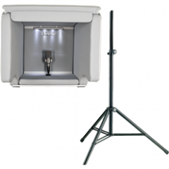 Isovox 2 Portable Vocal Booth Midnight with K&M Stand
