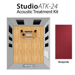 Studiospares StudioATK-24 Acoustic Treatment Kit Burgundy