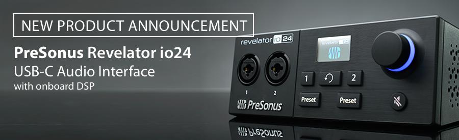 PreSonus announce the Revelator io24 USB-C Interface