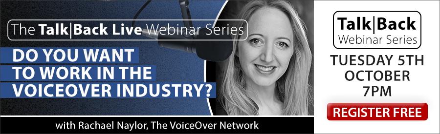 The Talk|Back Live Webinar - Rachael Naylor
