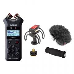 Tascam DR-07X + Rycote DR-07 Audio Kit Bundle