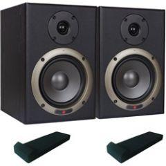 Studiospares Seiwin 5A Studio Monitors + Monitor Pads