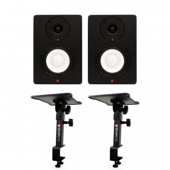 SN4A Pair + Table or Desk Clamp Monitor Stands by Studiospares