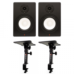 Studiospares SN6A Pair + Desk Clamp Monitor Stands