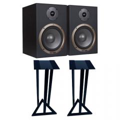 Studiospares Seiwin 8A Active Monitors + Monitor Stands