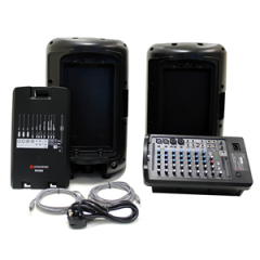 Studiospares iPA500 PA System + Speaker Stands and Bag