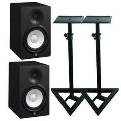 Yamaha HS5 Studio Monitors Stand Bundle