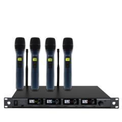 W Audio DQM Quad Handheld Microphone System