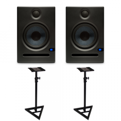 PreSonus Eris E5 Active Studio Monitors with Floor Stands