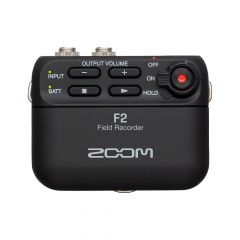 Zoom F2 Compact Field Recorder with Lavalier Mic