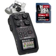 Zoom H6 Black + 16GB SDHC Card