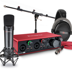Focusrite Scarlett 2i2 Studiospares Bundle with Mic Stand