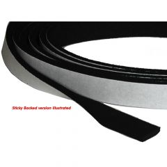 Neoprene Strip Non-Sticky Back 13 x 3mm (per m)