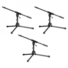 K&M 25910 Short Mic Boom Stands (3-Pack)