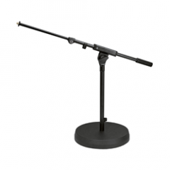 K&M 25960 Round Base Microphone Stand with Boom Arm