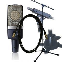 AKG C214 Pro Stand/Pop Shield/5m Lead Package