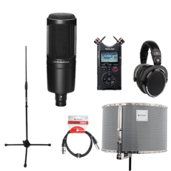 Voiceover Kit Pro with Audio Technica AT2020 - RED50