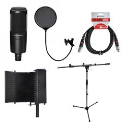 AT2020 Voiceover Starter Kit - Reflection Fliter Black