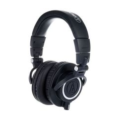 Side view of the black Audio-Technica ATH-M50x Headphones