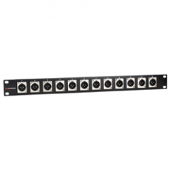 Studiospares XLR Rack Panel Male x12 XLRs