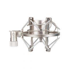Mic Shock Mount / Elastic Suspension (Silver)