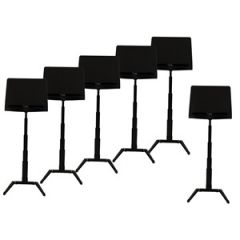RAT Jazz Stands 6-Pack Black with Trays