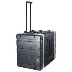 Trojan ABS Wheeled Rack Flight Case 6U+2U