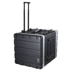 Trojan ABS Wheeled Rack Flight Case 8U+2U