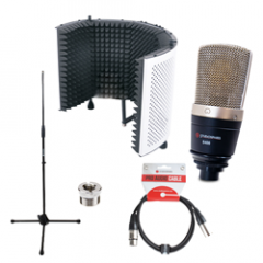 Studiospares S400 Condenser Mic Reflection Filter White Bundle