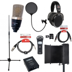 Voiceover and Podcasting Kit with Studiospares S400 - Reflection Filter Black