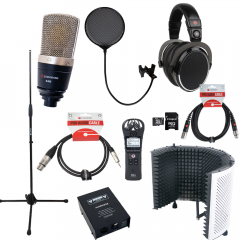 Voiceover and Podcasting Kit with Studiospares S400 - Reflection Filter White